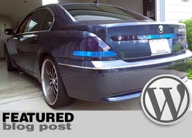 BMW 7-Series Tail Light Tint
